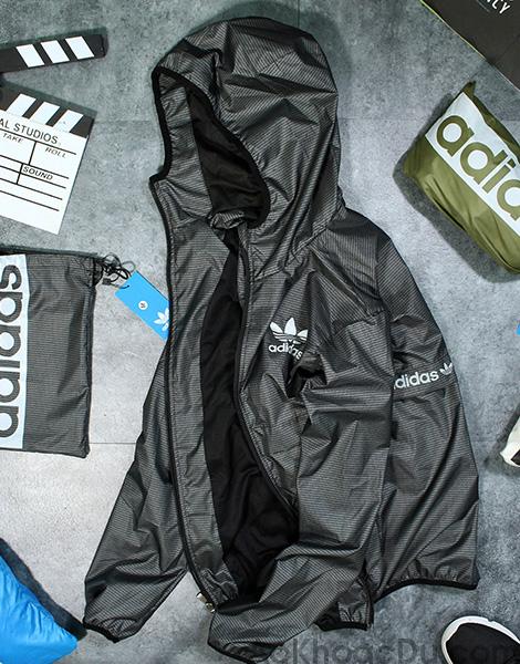 áo khoác dù adidas xám