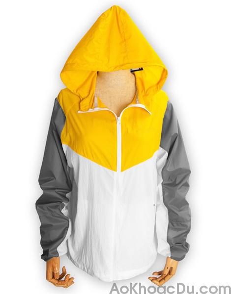 Áo Khoác Nike Nữ Vải Dù 1 Lớp Màu Vàng