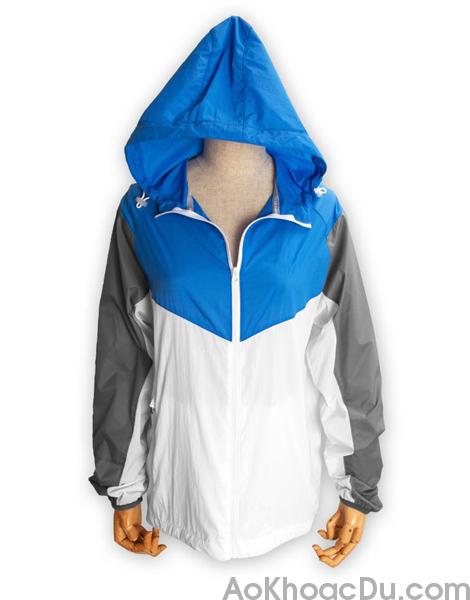 Áo Khoác Nike Nữ Vải Dù 1 Lớp Màu Xanh