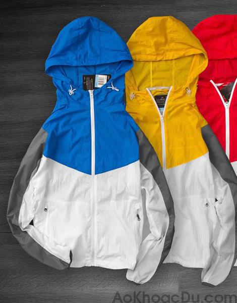 Áo Khoác Nike Nữ Vải Dù 1 Lớp